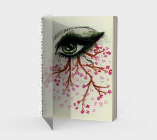 Green eye with sakura aperçu