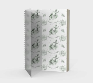 Slytherin Toile Notebook preview