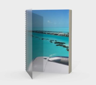 Turks and Caicos Airplane Vew  Spiral Notebook preview