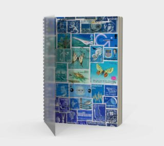 The Blues - Postage Stamp Collage Journal preview