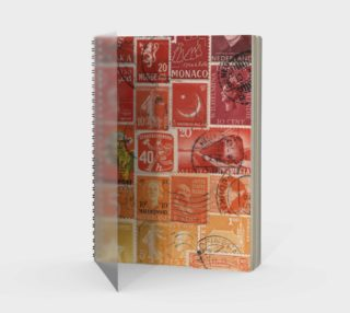 Fire Glow - Vintage Postage Stamp Journal preview