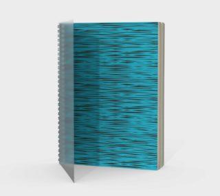 Bright Blue Striped - Zebra Pattern Notebook preview