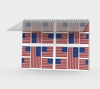 American Flag Spiral Notebook - Landscape preview