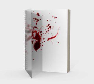 Blood Splatter three spiral notebook tall preview