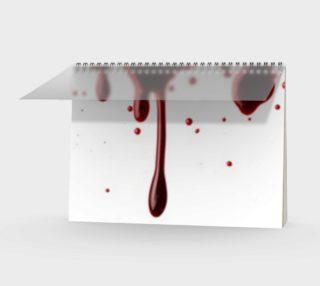 Blood Splatter three spiral notebook wide preview