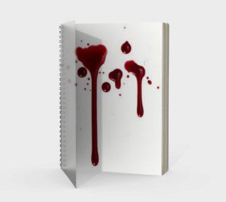 Blood Splatter four spiral notebook preview