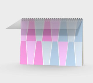 Pastel Geometric Spiral Notebook preview
