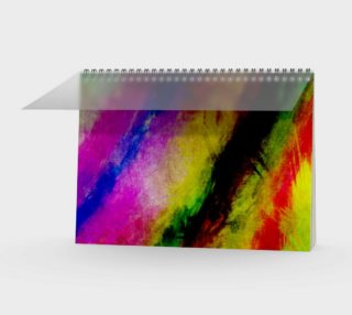 Aperçu de Abstract Paint Splats Spiral Notebook