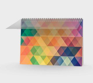 Aperçu de Geometric Texture Pattern Spiral Notebook