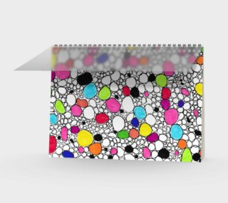 Colored Circles and  Other Shapes spiral notebook preview