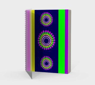 Spiral Floral Navy Stripe Spiral Notebook - Portrait preview