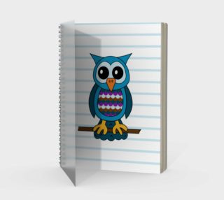 Oliver the Owl Spiral Notebook preview