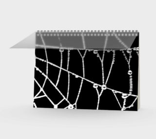 Spider Web Graphic Silhouette Notebook preview
