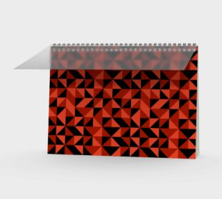 Red Triangles Spiral Notebook preview