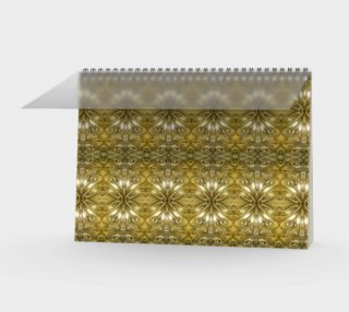 Golden Ornate Pattern Notebook preview