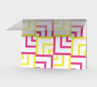 Pink and Yellow Squares Spiral Notebook preview