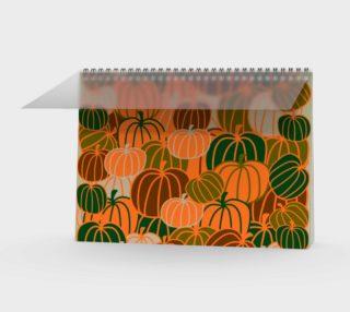 Pumpkin Camouflage Spiral Notebook - Landscape preview