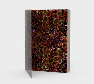 Colorful Stained Glass Look Whimsical Floral Spiral Notebook preview