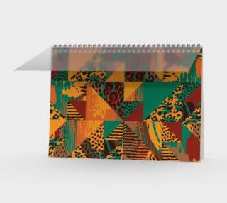 Abstract Safari Print Spiral Notebook preview