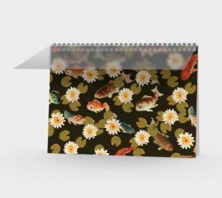 Koi & Lily Pads in Dark Water Spiral Notebook preview