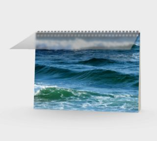 Ocean Waves Spiral-bound Notebook Calendar preview