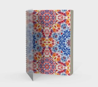 Blue and Orange Kaleidoscope Spiral Notebook - Portrait preview