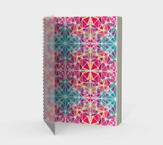 Pink and Blue Kaleidoscope Spiral Notebook - Portrait preview