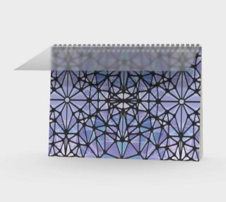 Purple and Blue Kaleidoscope Spiral Notebook - Landscape preview