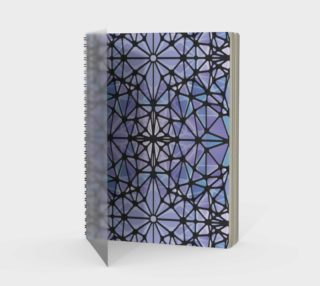 Purple and Blue Kaleidoscope Spiral Notebook - Portrait preview
