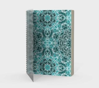 Turquoise & Gray Kaleidoscope Spiral Notebook - Portrait preview
