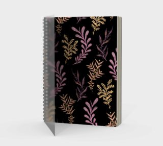 Bronze and Black Floral Pattern preview