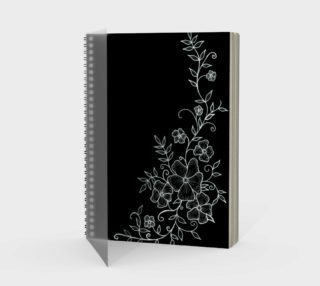 Black and White Floral Ornaments Spiral Notebook preview