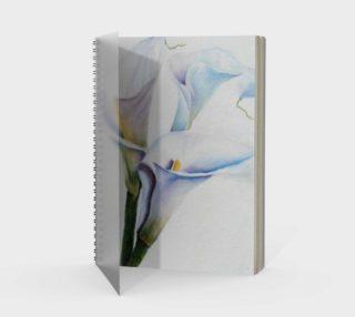 Calla Lilies Spiral Notebook preview