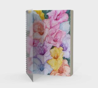 Colorful Gladiolas Spiral Notebook preview
