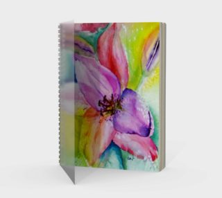 Neon Lily Spiral Notebook preview