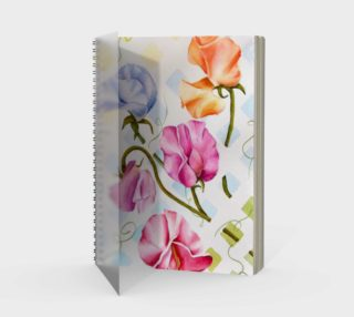 Sweetpeas Spiral Notebook preview