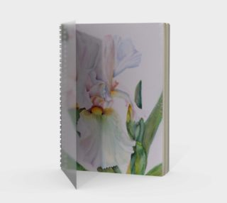 White Iris Spiral Notebook preview