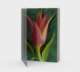 Single Tulip Spiral Notebook preview