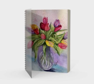 Tulip Bouquet Spiral Notebook preview