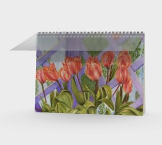 Aperçu de Orange Tulips Spiral Notebook
