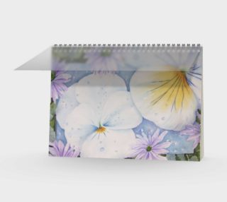 White Pansies Spiral Notebook preview