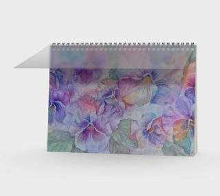 Pansy Party Spiral Notebook preview