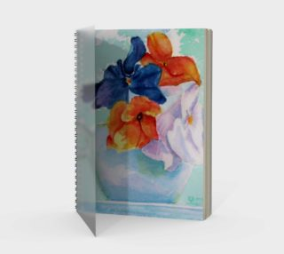 Pansy Cup Spiral Notebook preview
