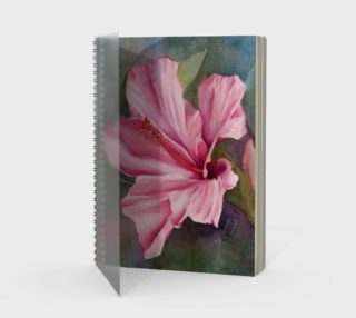 Tropical Hibiscus Spiral Notebook preview