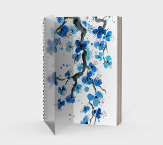 Blue Japanese Blossoms Spiral Notebook aperçu