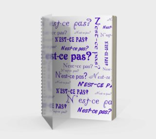 Purple N'est-ce Pas Spiral Notebook preview