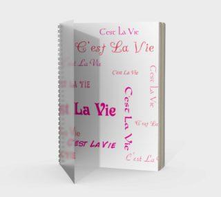Aperçu de Fuchsia C'est la Vie Spiral Notebook