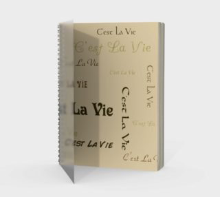 Coffee C'est la Vie Spiral Notebook preview