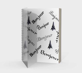 Bonjour Spiral Notebook preview