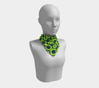 Yellow Blue and Green Retro Pattern Silk Scarf aperçu